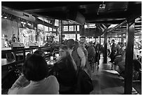 Bar with live music in Beale Street. Memphis, Tennessee, USA (black and white)