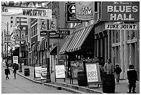 Beale street, Memphis. Memphis, Tennessee, USA ( black and white)