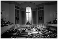 Gospel mass in Mississipi Boulevard Christian Church. Memphis, Tennessee, USA ( black and white)