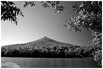Otter peak framed by fall colors, Blue Ridge Parkway. Virginia, USA (black and white)