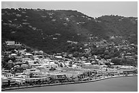 Fort Christian, Charlotte Amalie. Saint Thomas, US Virgin Islands ( black and white)