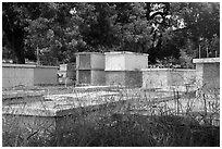 Cemetary, Charlotte Amalie. Saint Thomas, US Virgin Islands ( black and white)