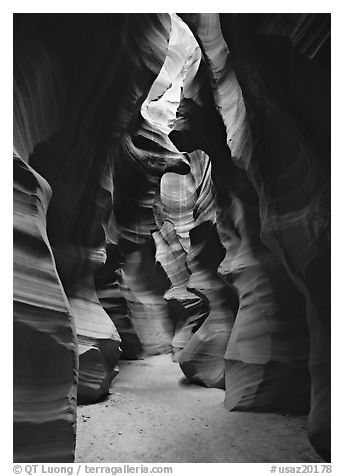 Upper Antelope Canyon. USA (black and white)