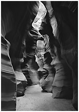 Upper Antelope Canyon. Arizona, USA (black and white)