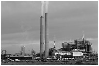 995-megawatt Cholla Power Plant, near Holbrook. Arizona, USA ( black and white)