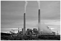 Coal fired power plant, Joseph City. Arizona, USA ( black and white)
