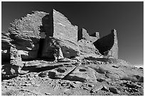 Wukoki pueblo, Wupatki National Monument. Arizona, USA (black and white)