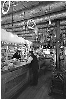 The main trading area. Hubbell Trading Post National Historical Site, Arizona, USA ( black and white)