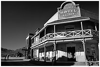 Saloon, Old Tucson Studios. Tucson, Arizona, USA ( black and white)
