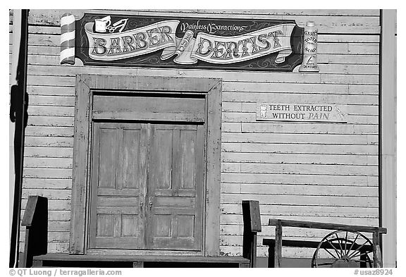 Dentist shop, Old Tucson Studios. Tucson, Arizona, USA