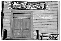 Dentist shop, Old Tucson Studios. Tucson, Arizona, USA ( black and white)