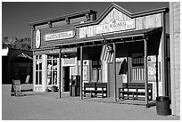 Old west style buildings, Old Tucson Studios. Tucson, Arizona, USA (black and white)