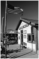 Railroad station, Old Tucson Studios. Tucson, Arizona, USA ( black and white)