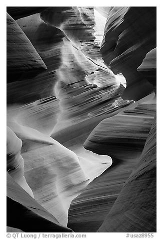 Lower Antelope Canyon. Arizona, USA (black and white)