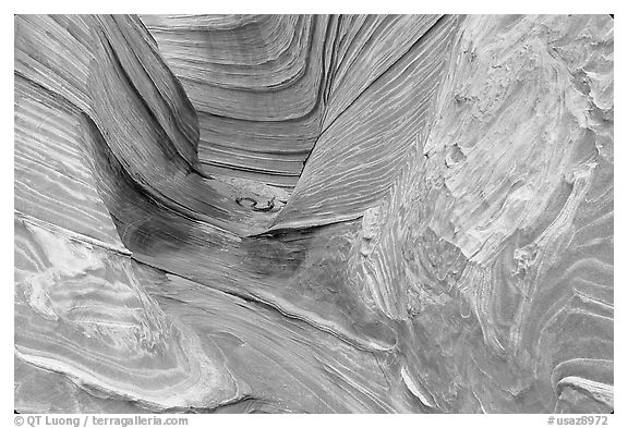 The Wave, side formation. Coyote Buttes, Vermilion cliffs National Monument, Arizona, USA