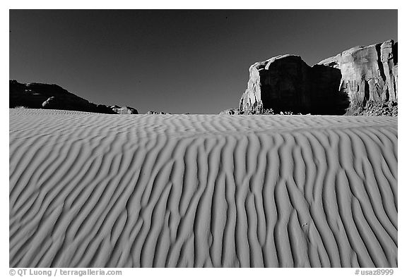 Ripples and mesas. Monument Valley Tribal Park, Navajo Nation, Arizona and Utah, USA