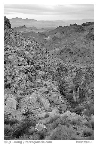 Desert mountains. Arizona, USA (black and white)