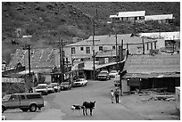 Main Street, Oatman. Arizona, USA (black and white)