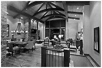Suite lobby, Peaks resort. Telluride, Colorado, USA ( black and white)