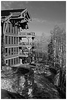 Peaks resort, Mountain Village. Telluride, Colorado, USA (black and white)