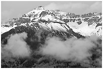 Iron Mountain and Mears Peak. Colorado, USA (black and white)