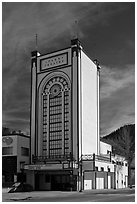 Historic Park Theater, Estes Park. Colorado, USA (black and white)