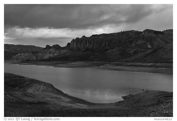 Dillon Pinnacles, Blue Mesa Reservoir, Curecanti National Recreation Area. Colorado, USA (black and white)
