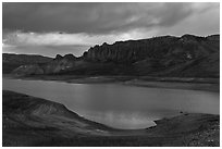Dillon Pinnacles, Blue Mesa Reservoir, Curecanti National Recreation Area. Colorado, USA ( black and white)