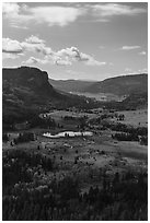 Pagosa Springs valley in the fall. Colorado, USA (black and white)