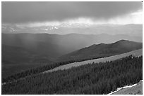 Storm, Mt Evans. Colorado, USA (black and white)
