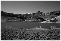 Sapinero Basin, Curecanti National Recreation Area. Colorado, USA (black and white)