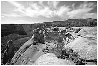 Cliffs. Colorado National Monument, Colorado, USA ( black and white)
