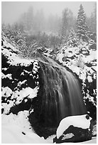 Waterfall near the Continental Divide. Colorado, USA (black and white)