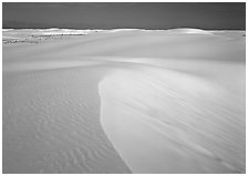 White sand dunes, White Sands National Monument. New Mexico, USA ( black and white)