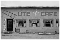 Ute Cafe. New Mexico, USA ( black and white)