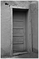 Blue door. Taos, New Mexico, USA ( black and white)