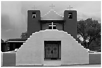 Church San Geronimo. Taos, New Mexico, USA (black and white)