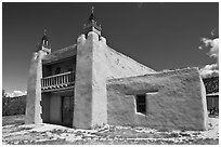 San Jose de Gracia De Las Trampas Church. New Mexico, USA (black and white)