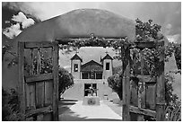 El Sanctuario de Chimayo. New Mexico, USA (black and white)