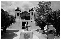 Church, Sanctuario de Chimayo. New Mexico, USA (black and white)