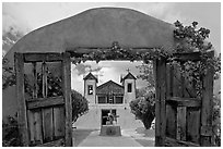 Chimayo Shrine. New Mexico, USA ( black and white)