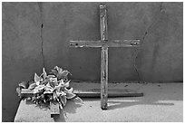 Crosses, Sanctuario de Chimayo. New Mexico, USA (black and white)