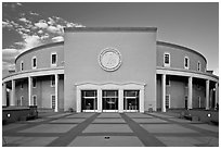 The Roundhouse (New Mexico Capitol). Santa Fe, New Mexico, USA ( black and white)