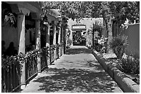 Alley, old town. Albuquerque, New Mexico, USA ( black and white)