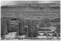 Kin Kletso. Chaco Culture National Historic Park, New Mexico, USA ( black and white)
