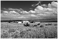 Crowpoint. New Mexico, USA ( black and white)