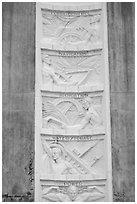Bas-relief in Art Deco style. Hoover Dam, Nevada and Arizona (black and white)