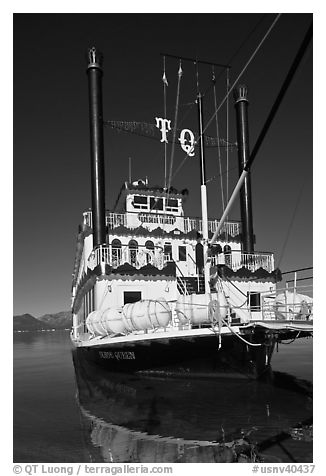 Tahoe Queen, South Lake Tahoe, Nevada. USA (black and white)