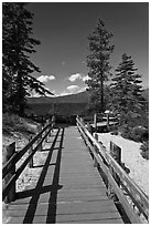 Boardwalk, Lake Tahoe-Nevada State Park, Nevada. USA (black and white)