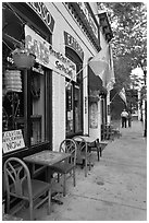 Cafe and sidewalk. Carson City, Nevada, USA ( black and white)
